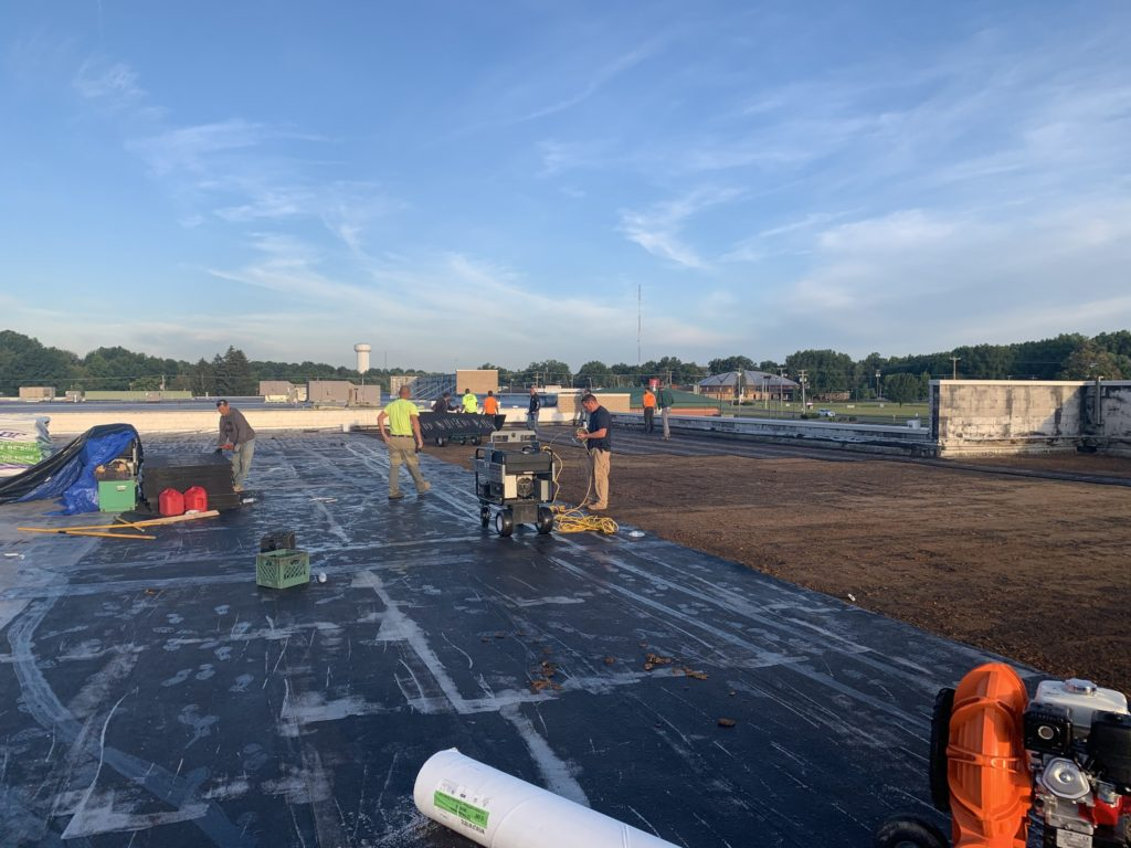 New Tpo Roof In Austintown Ohio Nasco Roofing